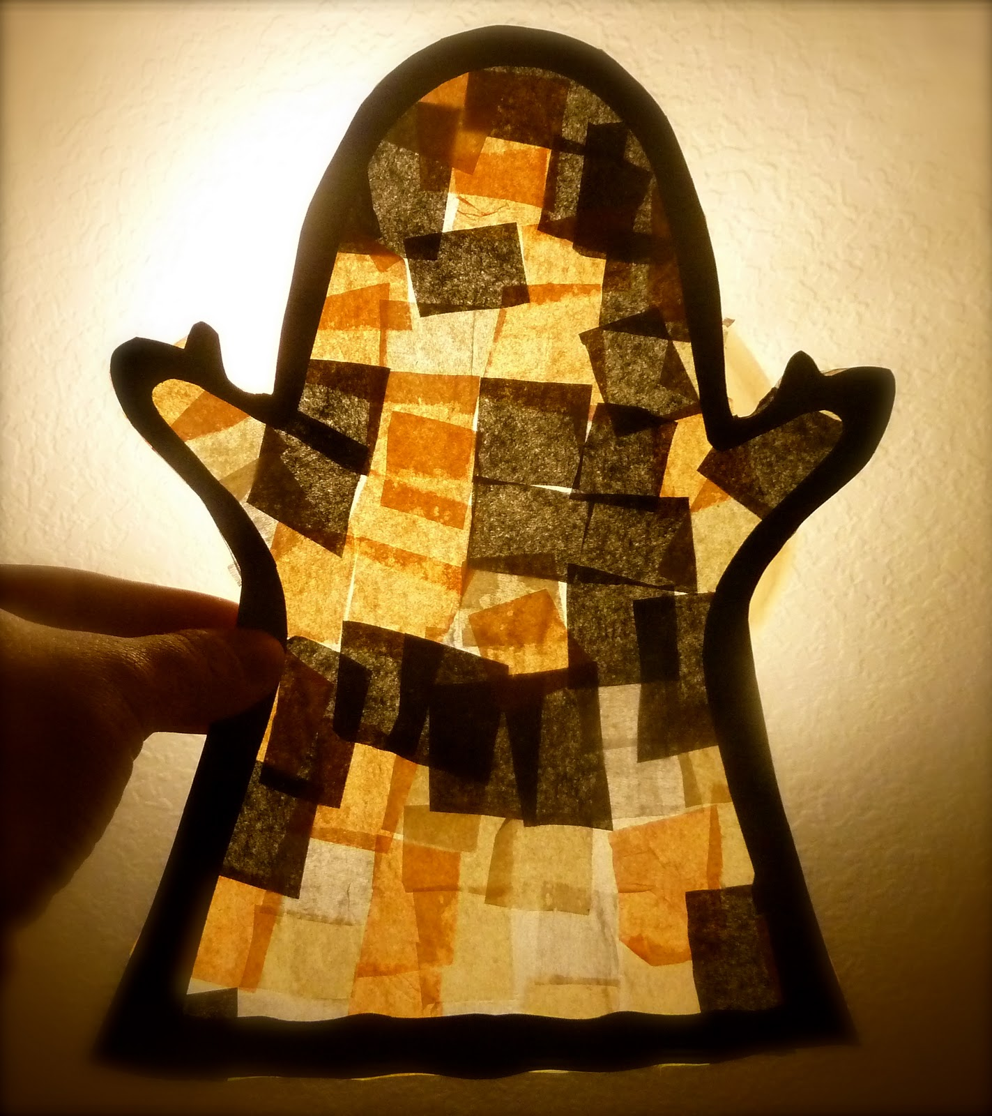 Stained Glass Halloween Ghost