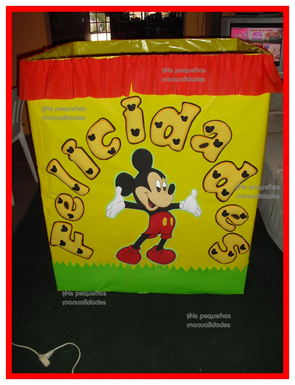 mis pequeñas manualidades: caja decorada mickey