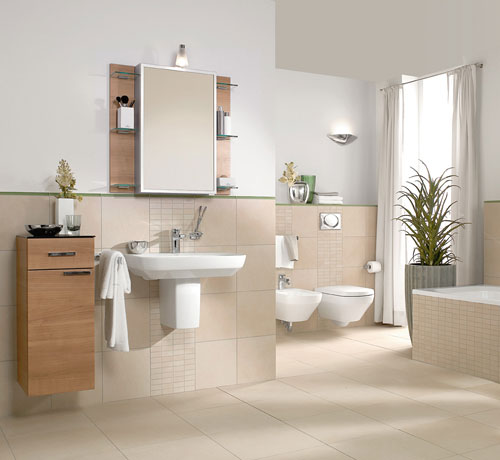 Baños Beige Con Blanco:baño decorado en beige y blanco Ambiente muy bien distribuido y con