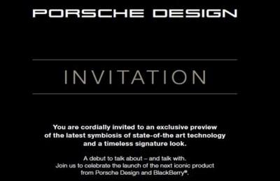 24 November, BlackBerry Porsche Design P'9982 akan Diluncurkan