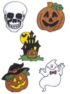 Vindues klistermæker halloween pynt