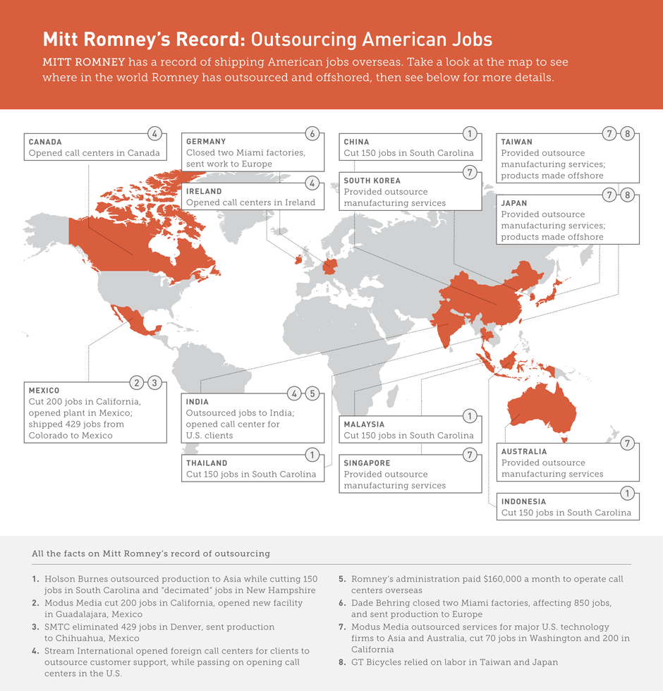 DownWithTyranny!: Mitt Romney Endeavors To Explain His Outsourcing ...