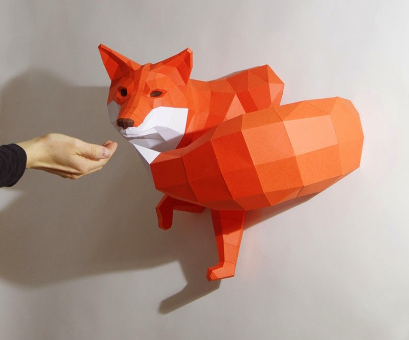 esculturas de papel de PaperWolf