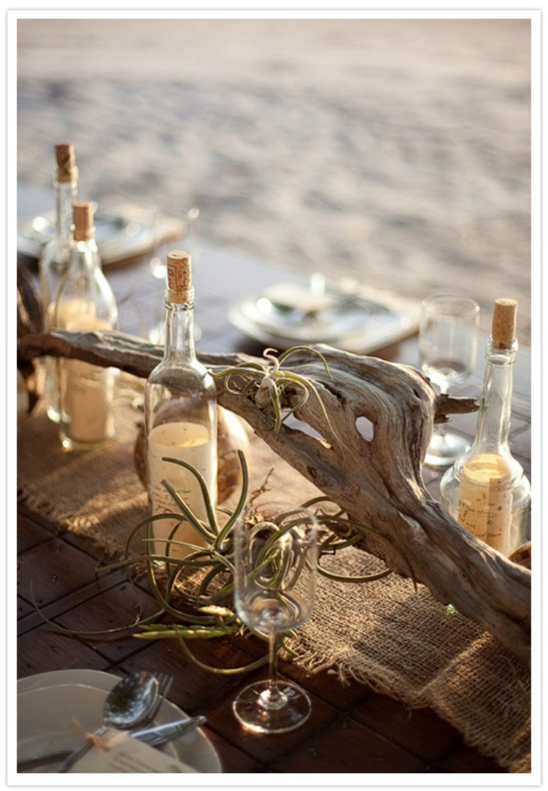 Coastal home how to guide centerpieces