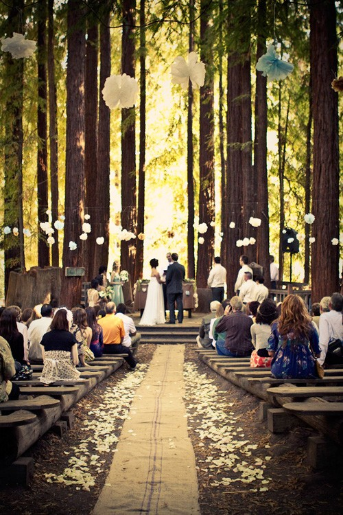 enchanted forest ceremony backdrop weddingbee
