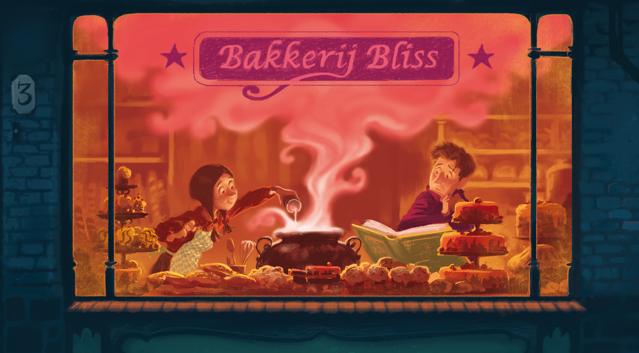 ... Kathryn Littlewood's book : The Bliss bakery was used to decorate the