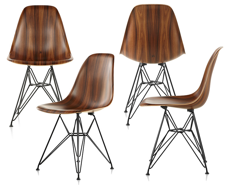 herman miller wood chair. eames molded wood chair honors the organic shapes, sleek lines, and honest materials of charles ray\u0027s classic work\u2014and represents herman miller\u0027s miller