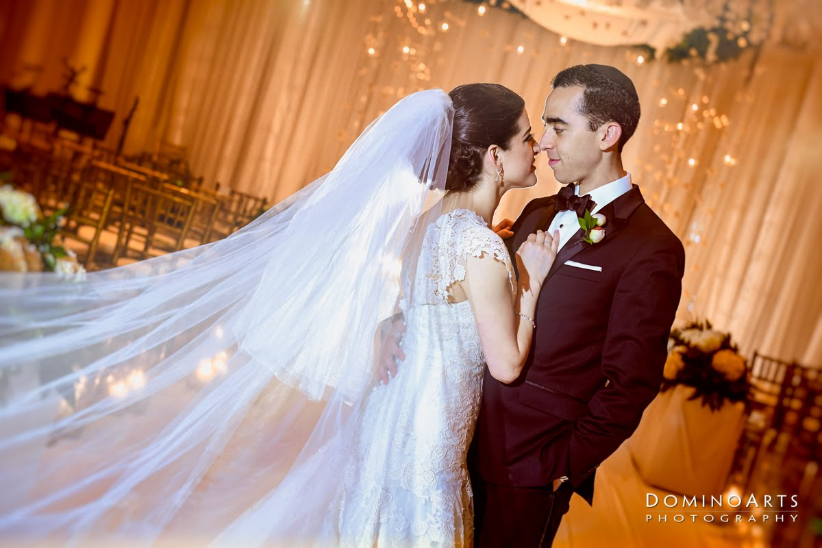 Gorgeous And Luxurious Modern Orthodox Jewish Wedding In Palm Beach Featuring Gardenia Style Centerpieces Acrylic Chuppah Draping More