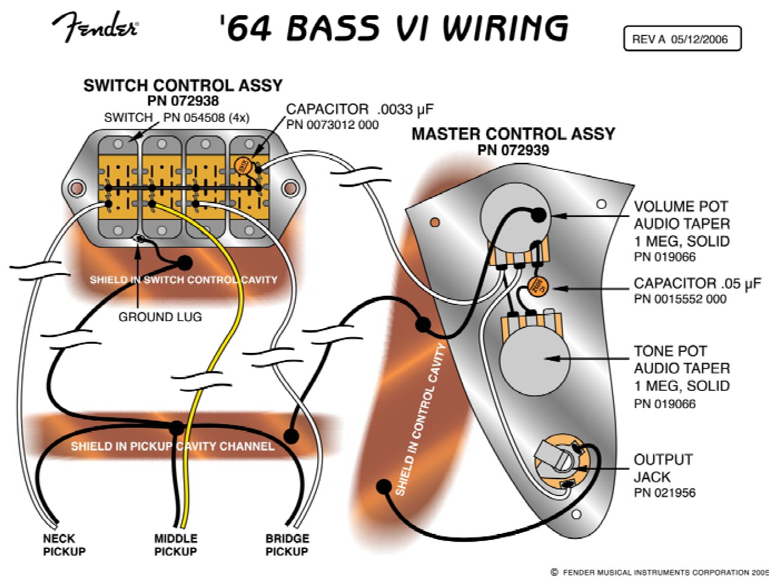 64 bass vi reissue wiring diagram jpg wiring diagram for fender mustang € the wiring diagram 1542 x 1161