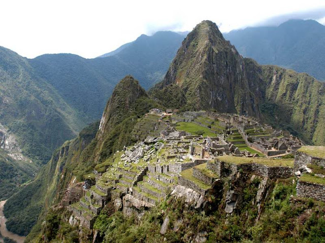 The inca city of Machu Picchu