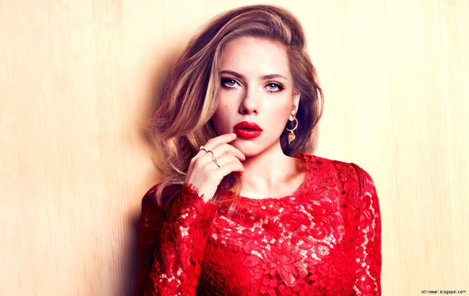 Scarlett Johansson Red