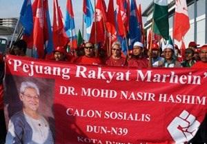 Pengerusi PSM, Mohd Nasir Hashim. DUN Kota Damansara