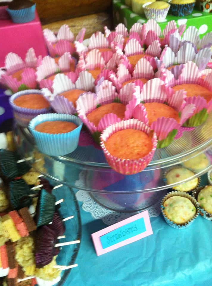 There were pink lemonade cupcakes, confetti cupcakes, strawberry ...