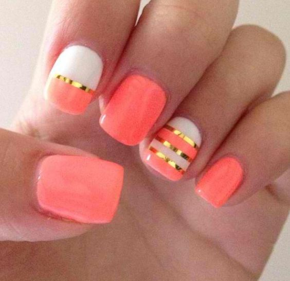 Awesome Coral Nails