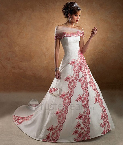 wedding fashion different colored wedding gowns