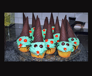 Wicked Witch Cupcakes by LilSugar