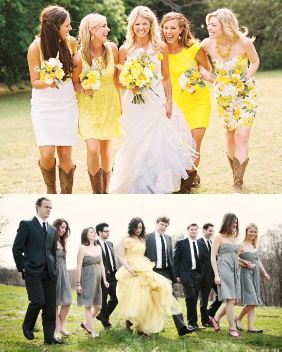 Ma petite rouge les beaux mariages mariage et robe de mari e en automne 2014 jaune - Robe champetre pour mariage ...