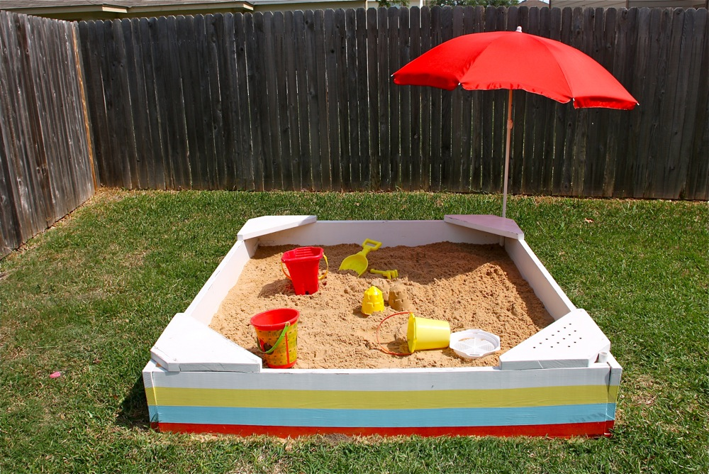 Backyard Sandpit : how to make a Backyard Sandbox TUTORIAL  MADE