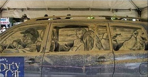 On the Road: Driver's Side - Scott Wade's Dirty Car Art