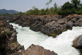 Cascadas en Don Khone, 4.000 islas (Si Pha Don, Laos)