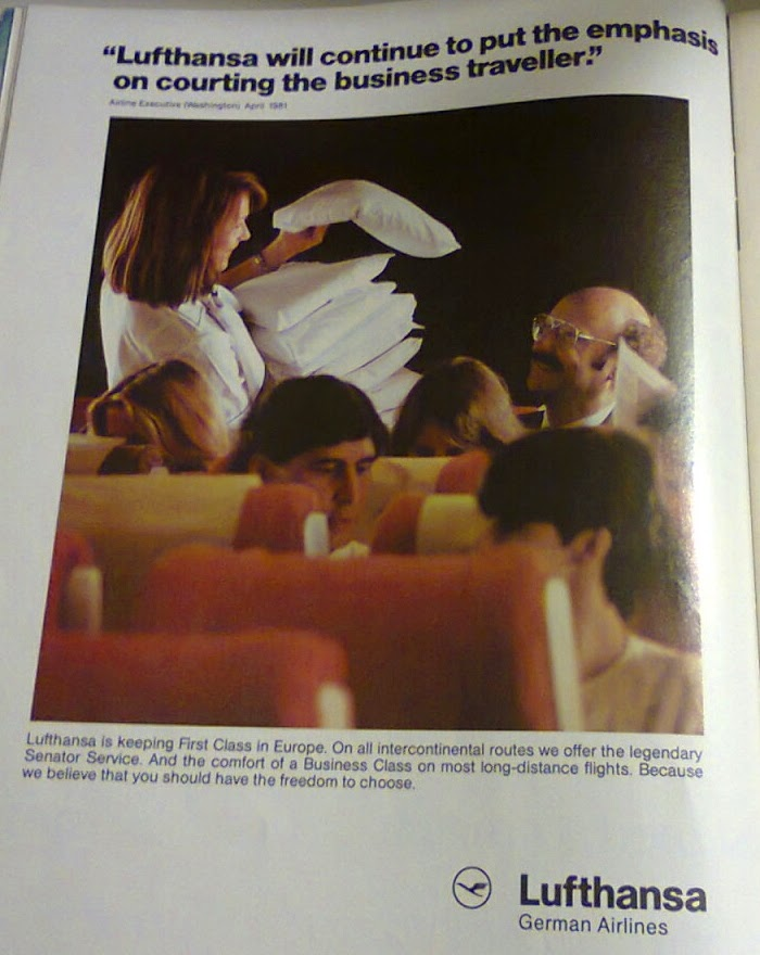 Lufthansa ad from the 80's