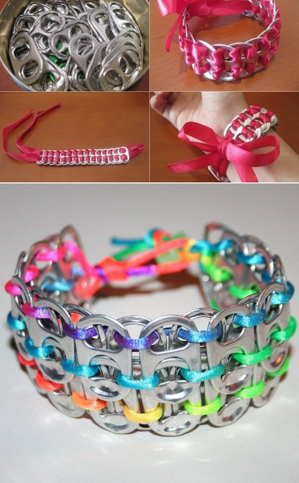 Make A Bracelet Using Pop Tabs
