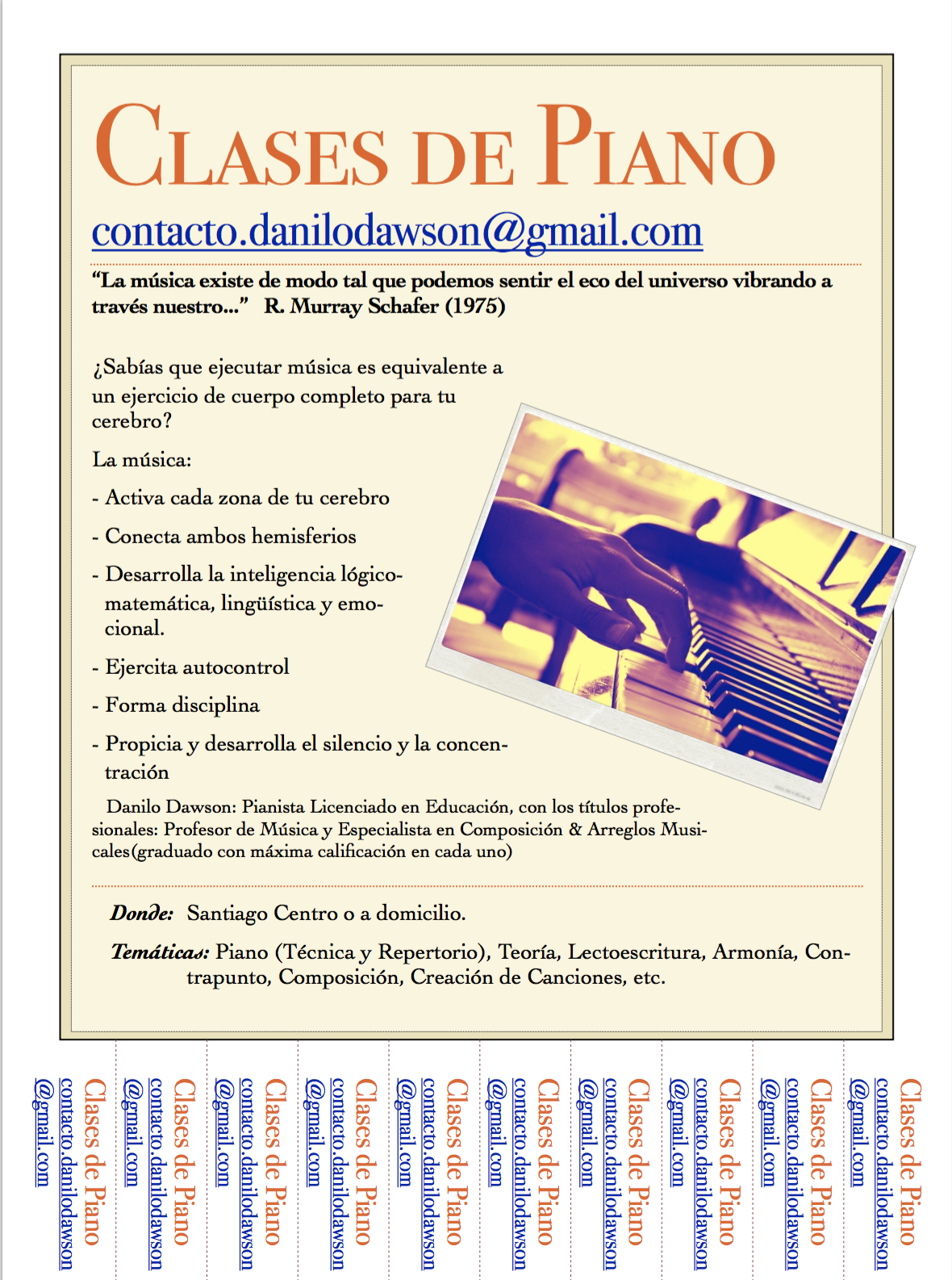 CLASES PARTICULARES DE PIANO ON LINE