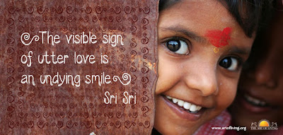 Quotes on Smile by Sri Sri Ravi Shankar
