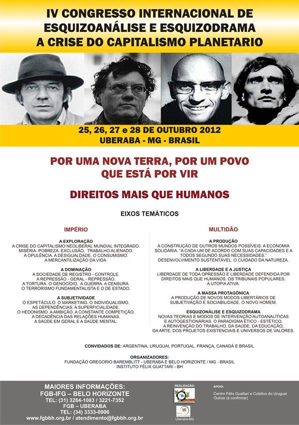 IV Congresso Internacional de Esquizoanálise e Esquizodrama em Uberaba