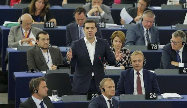 Τσίπρας στο Ευρωκοινοβούλιο: Ας μην επιτρέψουμε τη διαίρεση της Ευρώπης