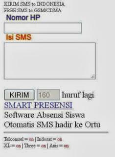 cara  sms dari internet