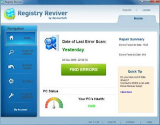 Registry Reviver detects and removes all unused entries in your PC registry from failed software, driver installations with errors / uninstall and optimizes the operation of Windows