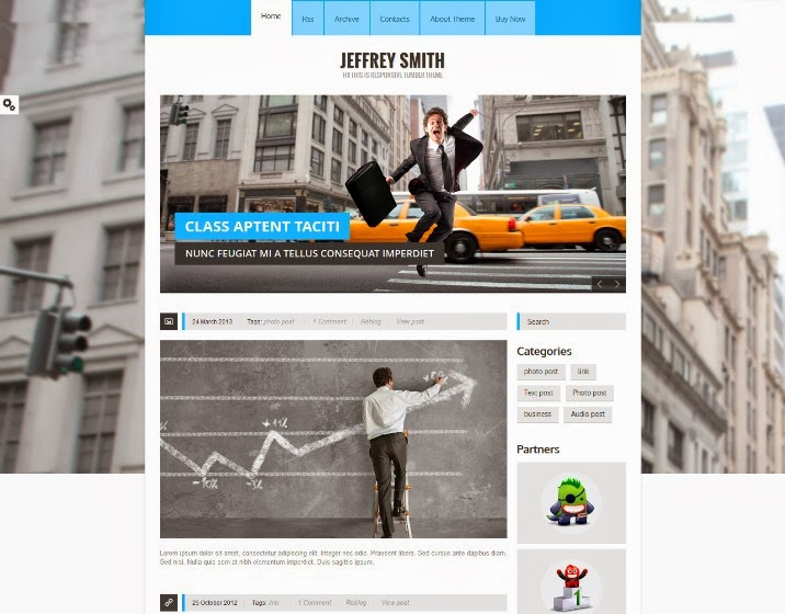 Jeffrey Smith – Responsive Tumblr Theme