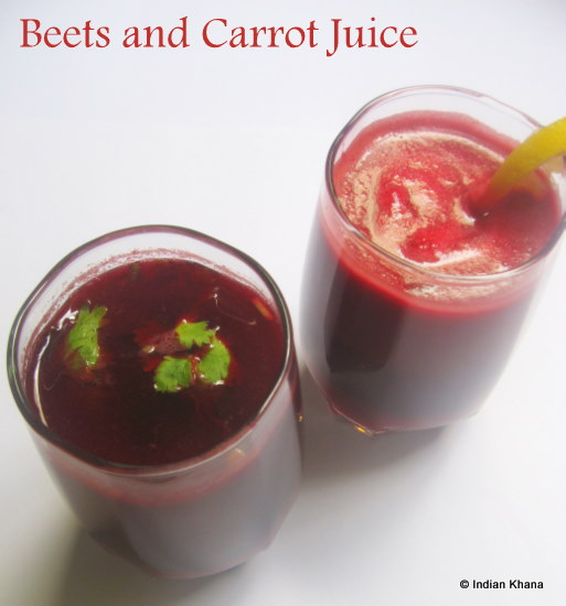 Beetroot and Carrot Juice | Summer Drinks Recipe