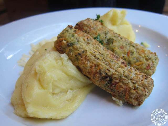 Image of Cheesy mash with veggie sausages at Mother Mash in London, England
