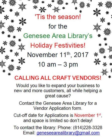 11-11 Genesee Library's Holiday Festivies