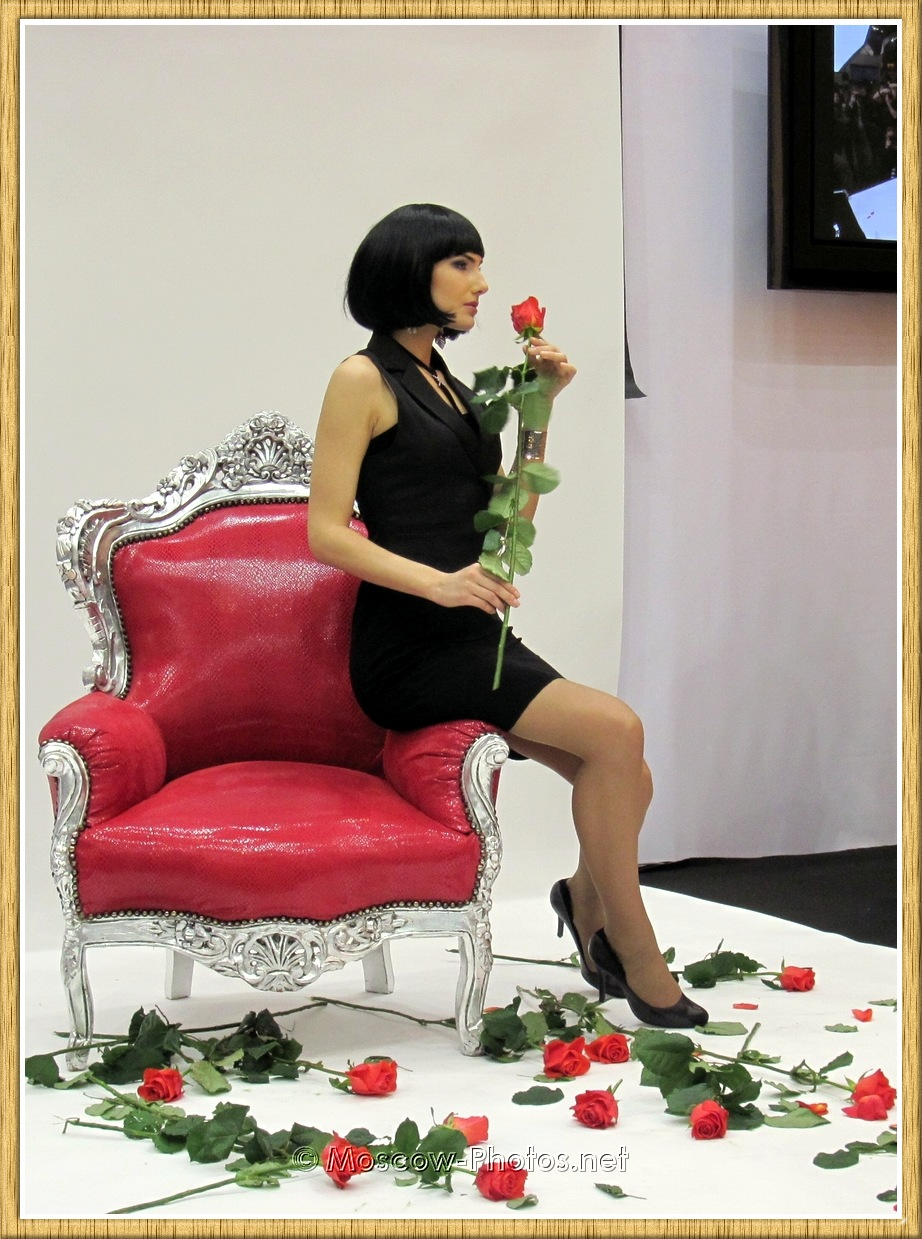 Moscow Model With Flowers at Photoforum - 2011