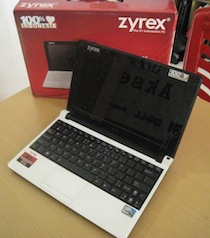 jual netbook second zyrex m1110m