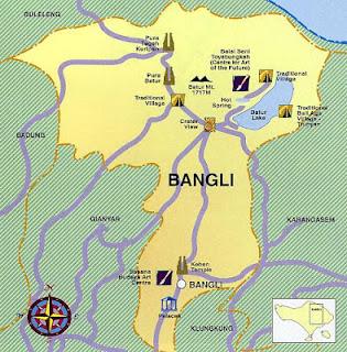 Peta Kabupaten Bangli
