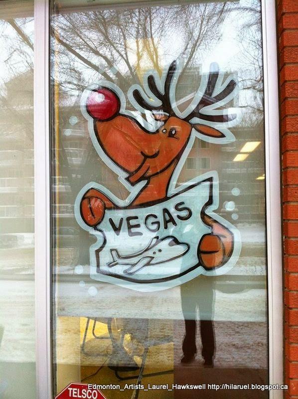 Edmonton window painting