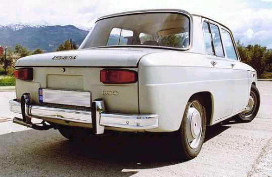 Romanian Car Dacia 1100 back view