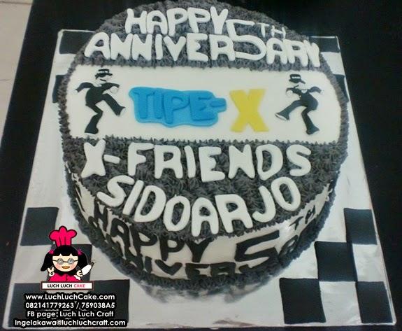 Kue Tart Fans Club Tipe - X Daerah Surabaya - Sidoarjo