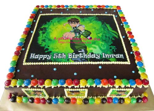 Birthday Cake Edible Image Ben 10