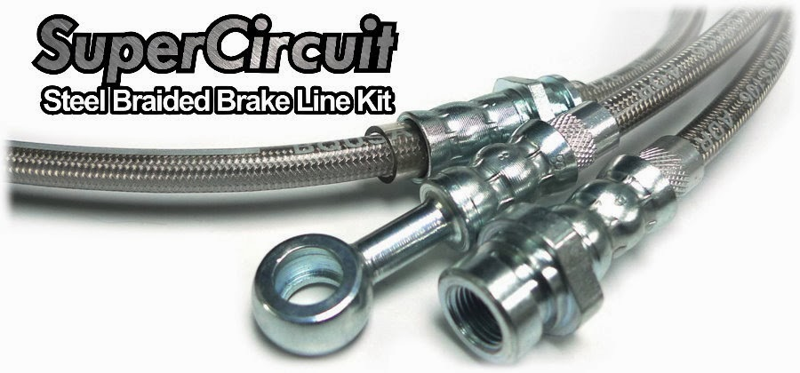 SuperCircuit Steel Braided Brake Lines