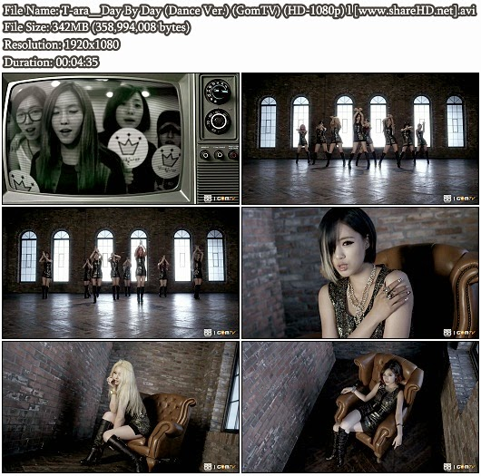 Download MV T-ara (티아라) - Day By Day (Dance Version) (GomTV Full HD 1080p)