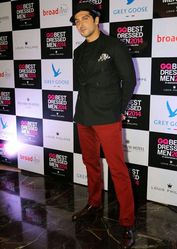 Zayed Khan At GQ India's Best Dressed Men 2014 Awards