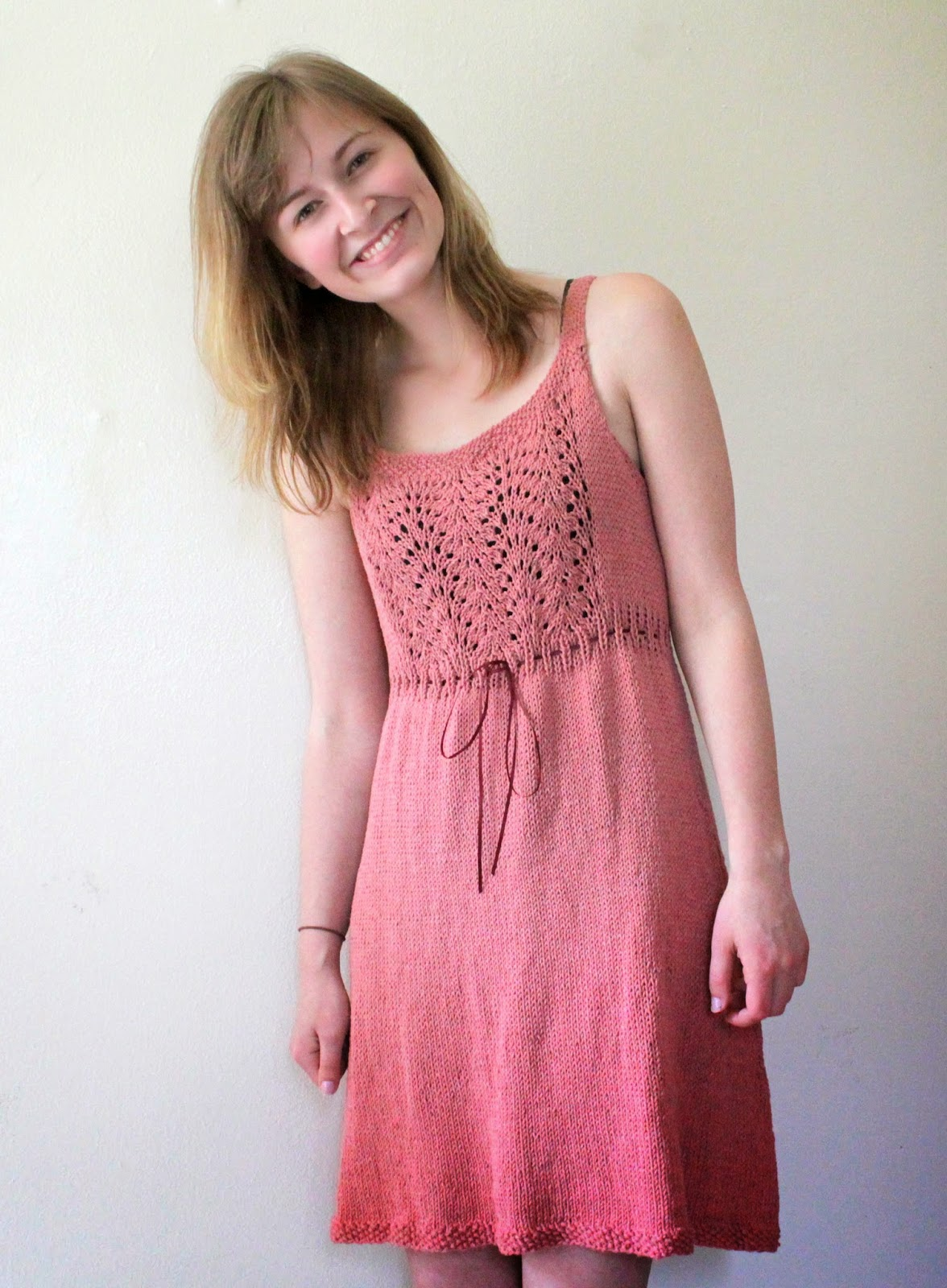 Knitting Summer Dress : The fuzzy square summer knit sun dress with lace
