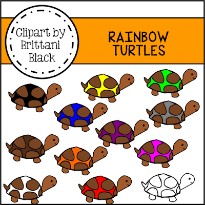 https://www.teacherspayteachers.com/Product/Rainbow-Turtles-Clipart-2242504