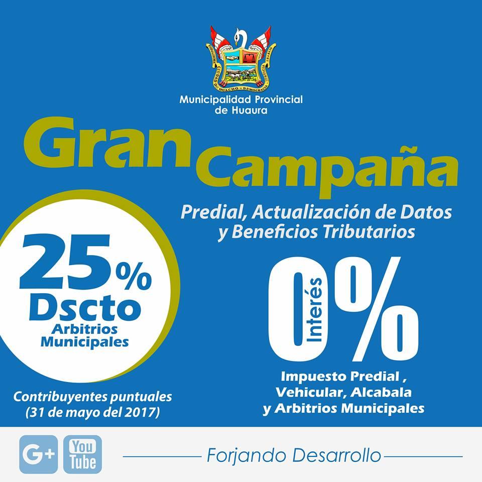 GRAN CAMPAÑA PREDIAL