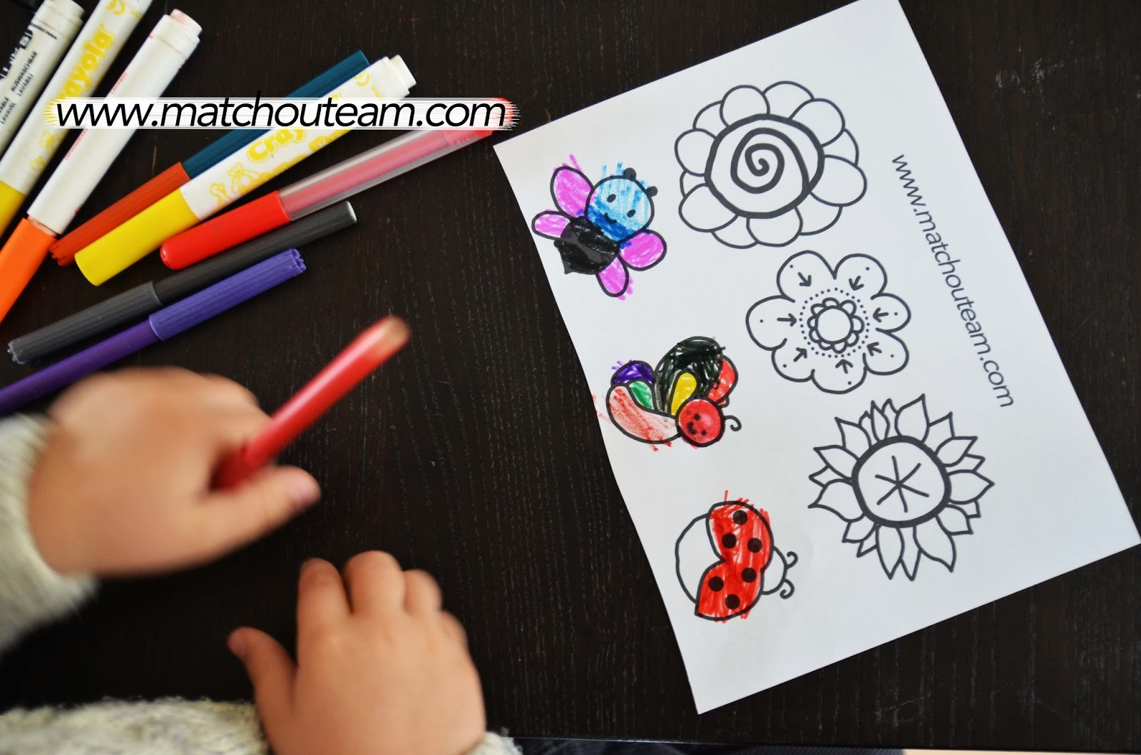 Bricolage de printemps enfant